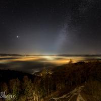 Wintermilchstrasse über dem Nebelmeer